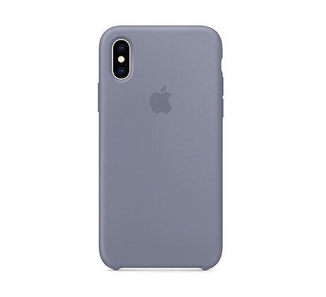 Силиконовый чехол для iPhone XS/X, цвет «тёмная лаванда»