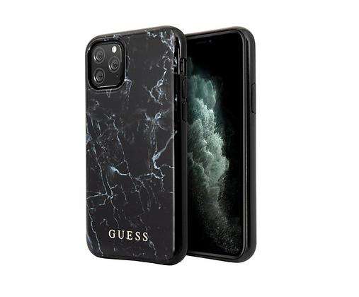 Чехол Guess Marble Design Hard для iPhone 11 Pro, черный