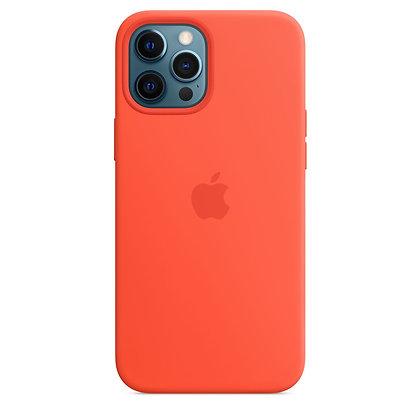 Силиконовый чехол MagSafe для iPhone 12 Pro Max, цвет «cолнечный апельсин»