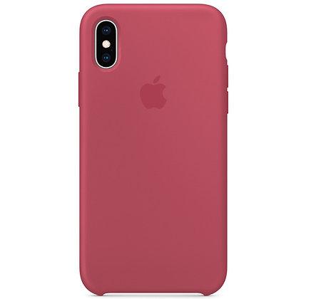 Силиконовый чехол для iPhone XS / X, цвет кирпичный