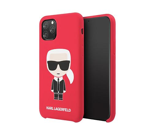Чехол Karl Lagerfeld Liquid silicone Iconic для iPhone 11 Pro Max, красный
