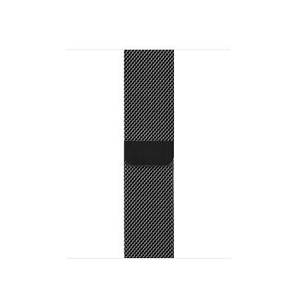 Миланский сетчатый браслет 42/44 mm, черный