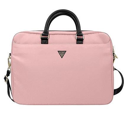 "Сумка Guess Nylon computer bag with Triangle для ноутбука 13-16"", розовая"