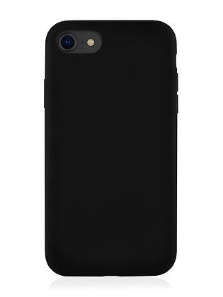 Силиконовой чехол VLP для iPhone SE (2020)/8/7, чёрный