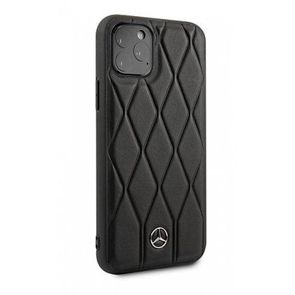Чехол Mercedes Wave Quilted Hard Leather для iPhone 11 Pro Max чёрный