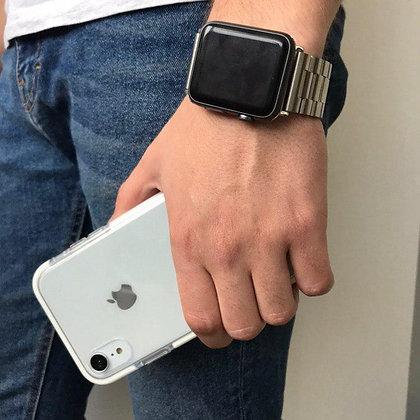 """Силиконовый чехол """"Лёд"""" на iPhone XR (Белый)"""
