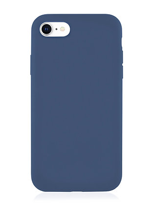 Силиконовой чехол VLP для iPhone SE (2020)/8/7, тёмно-синий