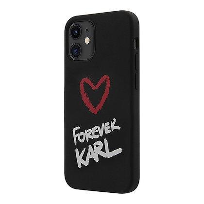 Чехол Karl Lagerfeld silicone Forever Karl для iPhone 12 mini, черный