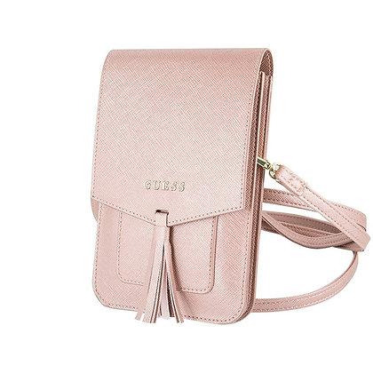 Сумка-чехол Guess Wallet Bag Saffiano look для смартфонов, розовая