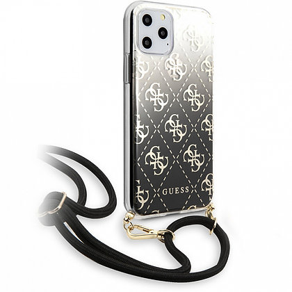 Чехол Guess 4G Cord Collection Hard для iPhone 11 Pro чёрный