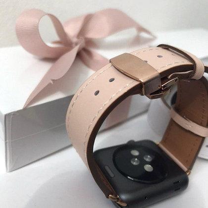 Кожаный ремешок для Apple Watch 38/42 mm, розовый