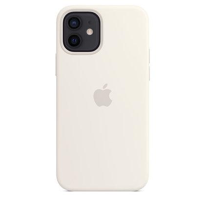 Силиконовый чехол MagSafe для iPhone 12 / 12 Pro, белый цвет
