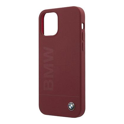 Чехол BMW Signature Liquid Silicone Laser logo для iPhone 12 mini, красный