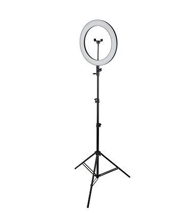 Кольцевая светодиодная лампа 36 см со штативом для профессиональной съемки