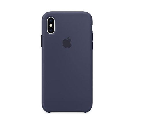 Силиконовый чехол для iPhone XR, тёмно-синий цвет