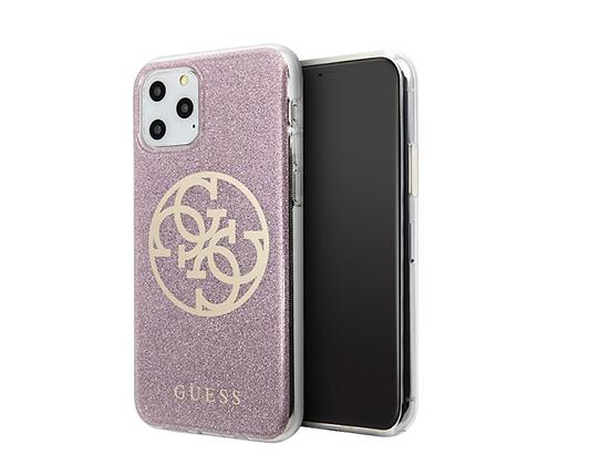 Чехол Guess 4G Circle Logo Hard Gradient для iPhone 11 Pro Max, розовый