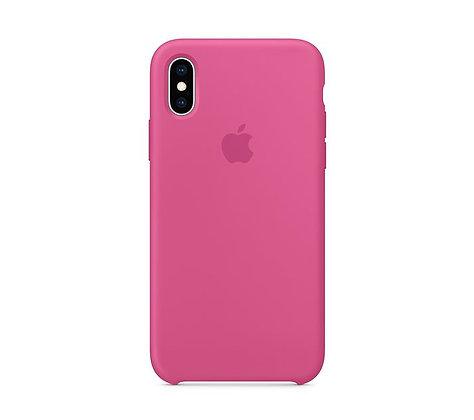 Силиконовый чехол для iPhone XR, цвет «тёмная фуксия»