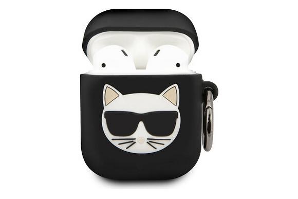 Чехол Karl Lagerfeld Choupette Silicone case для AirPods (1-2 serie, цвет Черный