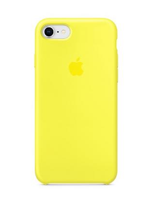 Силиконовый чехол для iPhone 8/7, цвет «жёлтый неон»