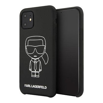 Чехол Karl Lagerfeld Liquid silicone Ikonik outlines для iPhone 11