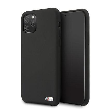 Чехол BMW M-Collection Liquid Silicone для iPhone 11 Pro Max чёрный