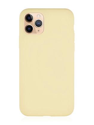 Силиконовой чехол VLP для iPhone 11 Pro Max, жёлтый