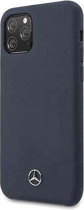 Чехол Mercedes Liquid Silicone line Hard для iPhone 11 Pro Max синий