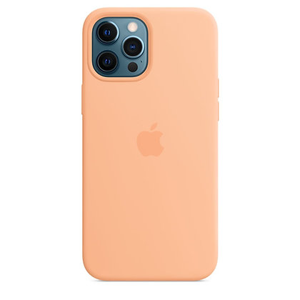 Силиконовый чехол MagSafe для iPhone 12 Pro Max, светло-абрикосовый цвет