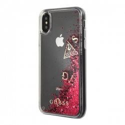 Чехол Guess для Apple iPhone XS/X – Glitter, Raspberry