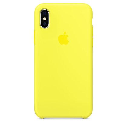 Силиконовый чехол для iPhone XS/X, цвет желтый неон