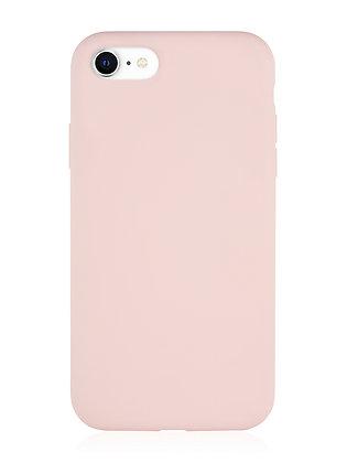 Силиконовой чехол VLP для iPhone SE (2020)/8/7, нежно-розовый