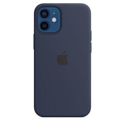 Силиконовый чехол MagSafe для iPhone 12 / 12 Pro, цвет «тёмный ультрамарин»