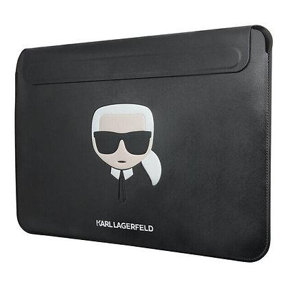 """Чехол-папка Karl Lagerfeld Ikonik Karl Sleeve для ноутбука 13"""", черный"""