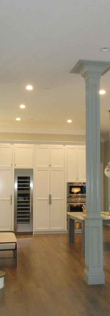 Fine finish paint grade cabinets and woo