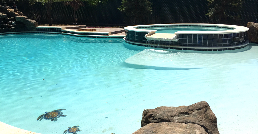 Pool & Spa, Beach entry