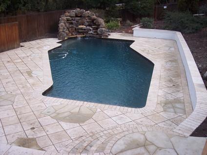 Custom pool and waterfall