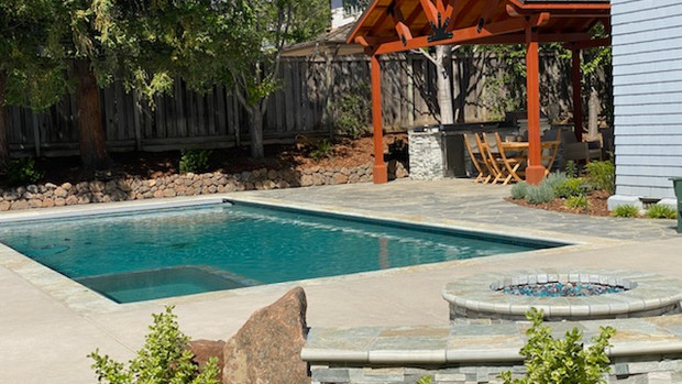 Pool & Spa. Firepit. Solid roof Pegola - Cupertino