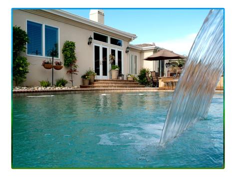 Custom pool and watersheet