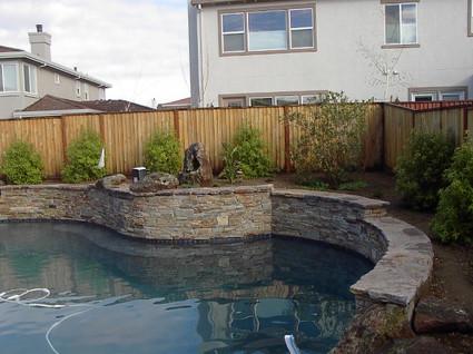 Custom pool with planters