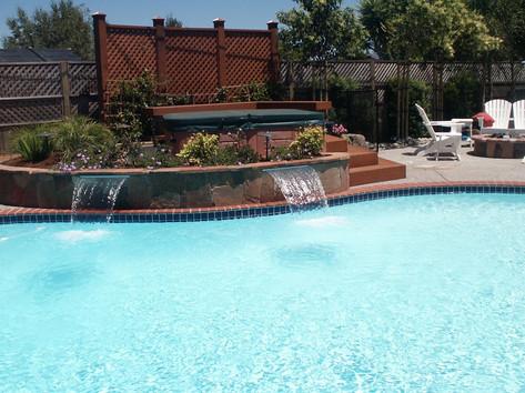 Custom pool and watersheets