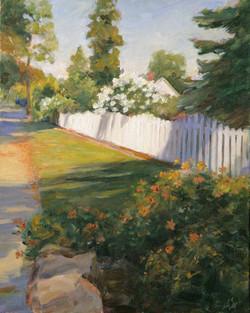 Bright White Fence