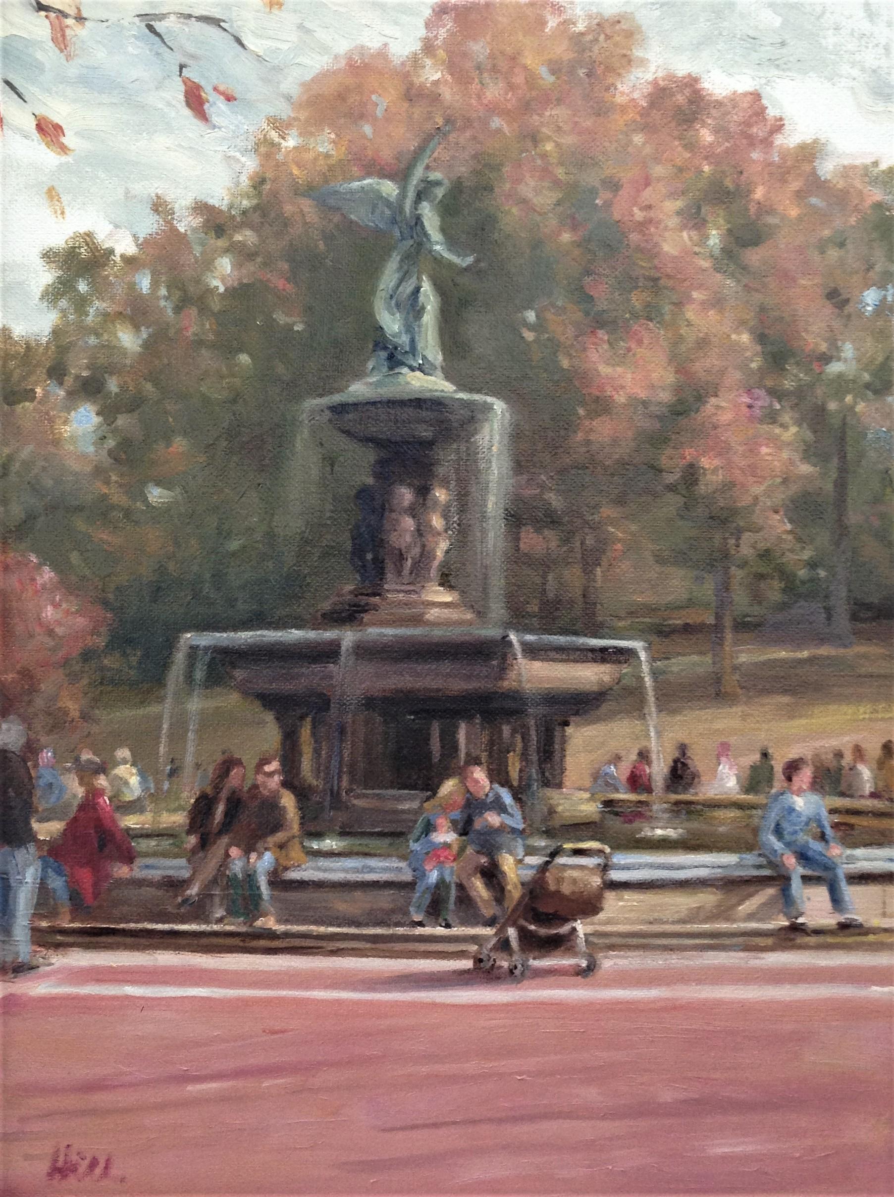 Bethesda Fountain Autumn