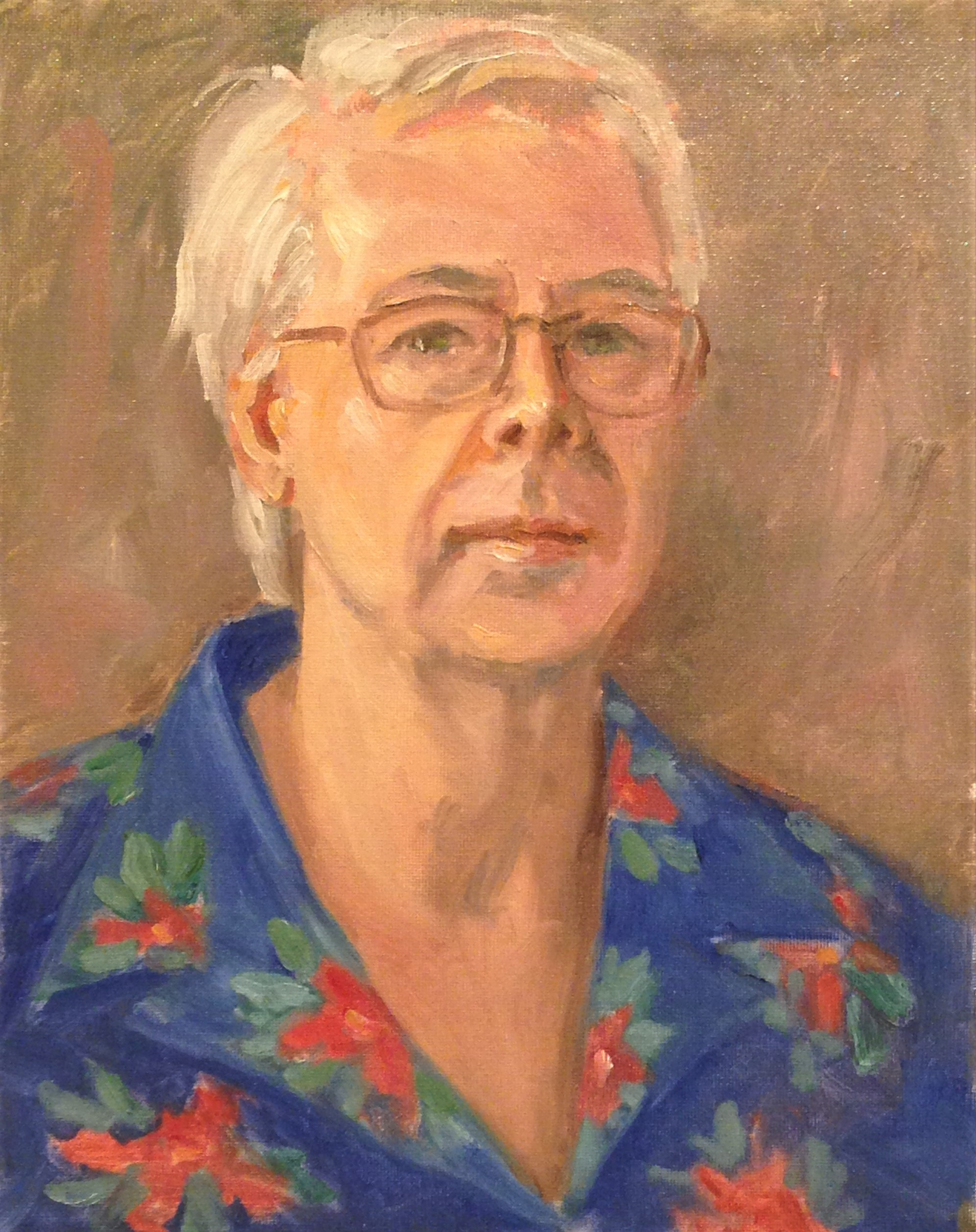Self-Portrait in Hawaiian Shirt