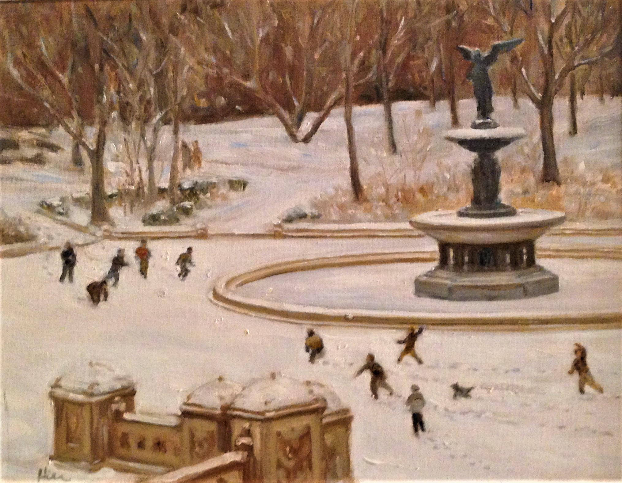 Snowball Fight at Bethesda Fountain