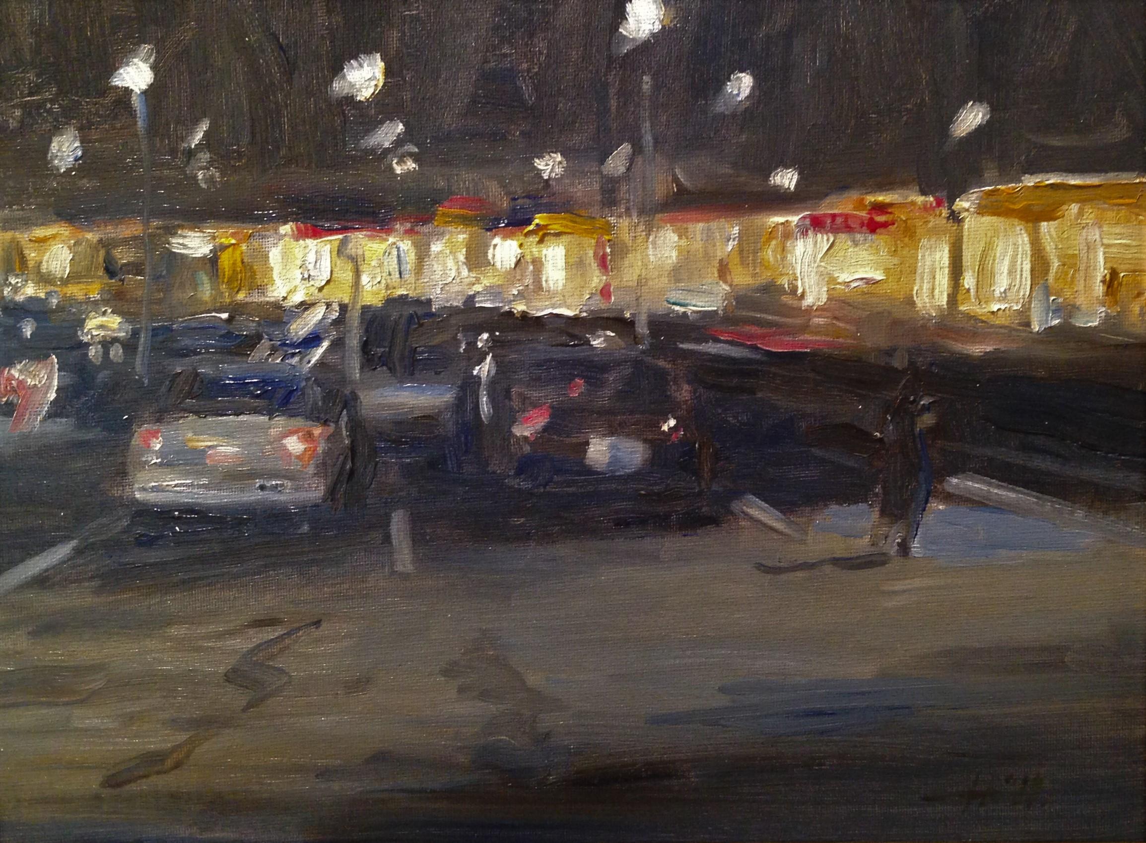 Bradford Plaza at Night