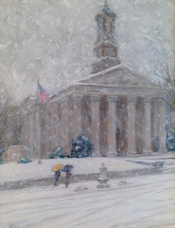 West Chester Courthousse in Snow 2