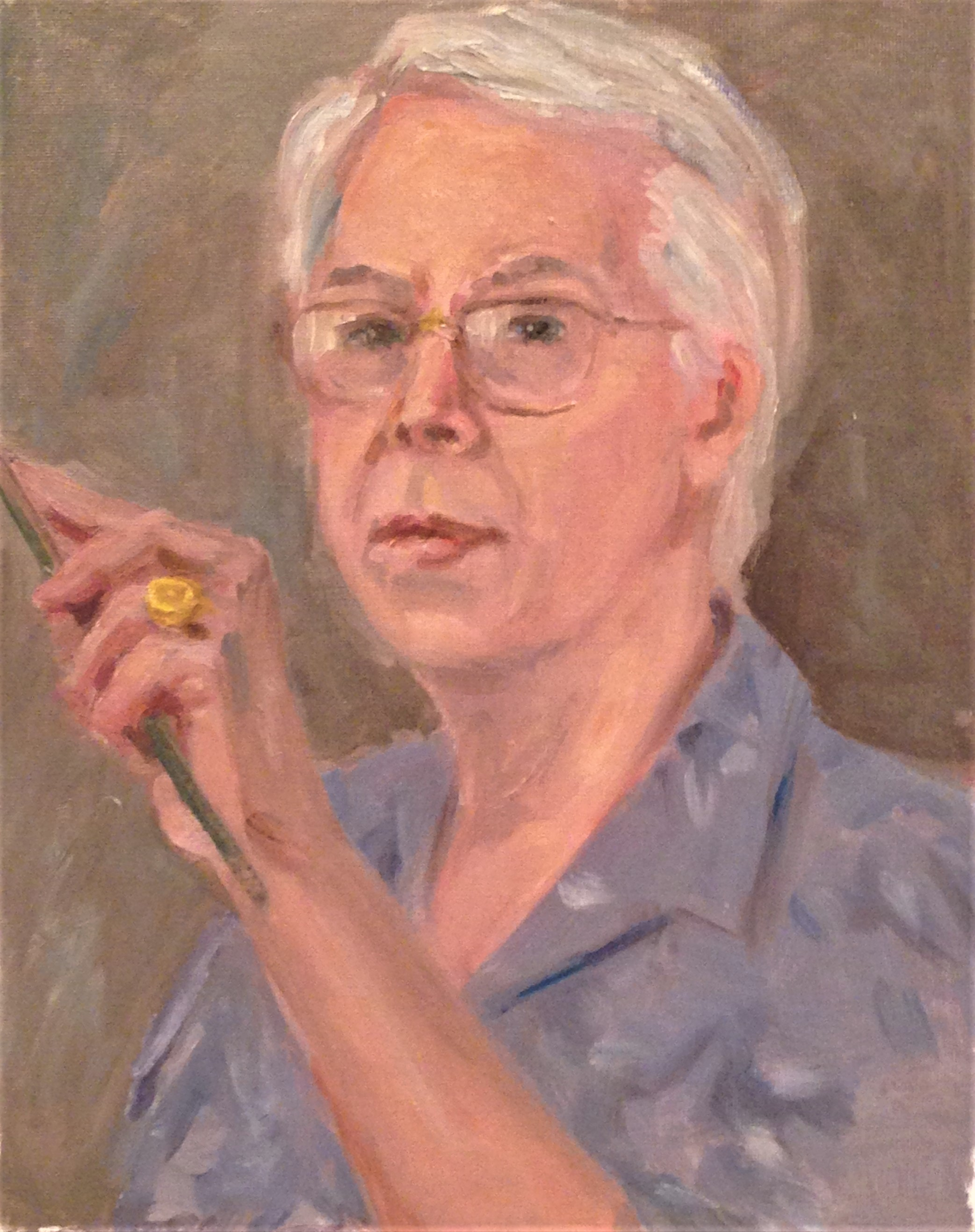 Self-portrait in Blue Shirt