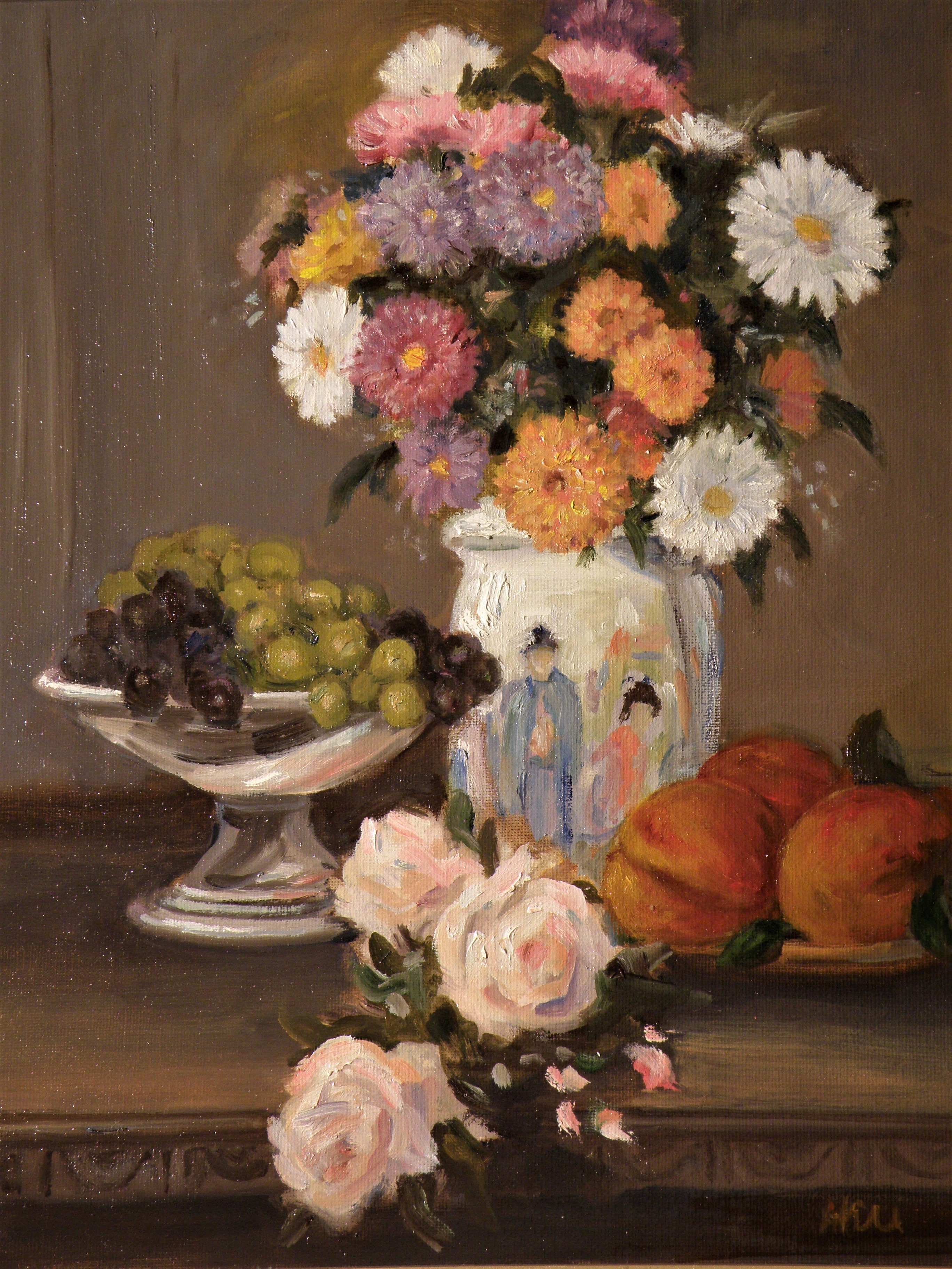 Floral with Oriental Vase