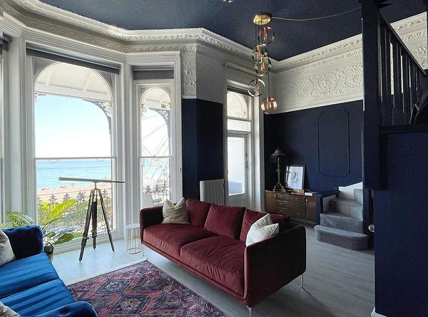 stunning blue lounge