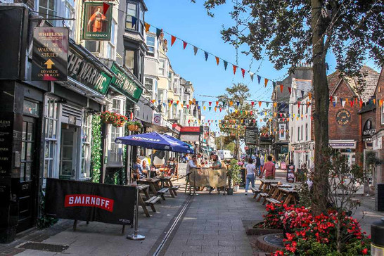 Worthing's Warwick Street bars and cafes